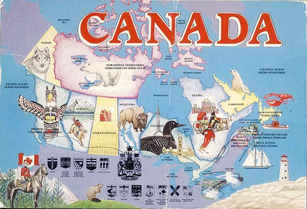 Canada Stereotype Map Canada Maps Maps CKA - Funny us map stereotypes