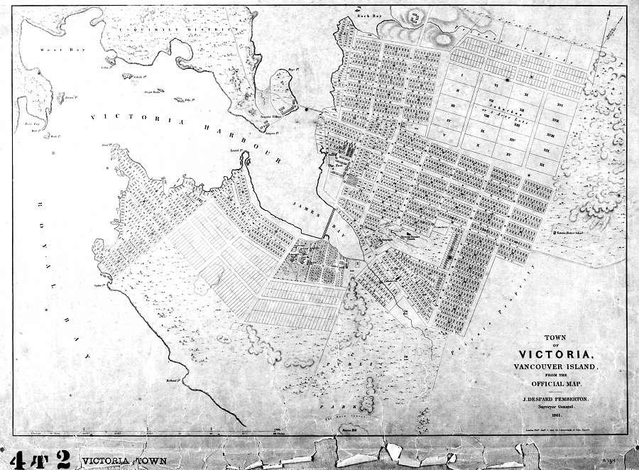 Victoria B C 1861 1800 S Maps Cka