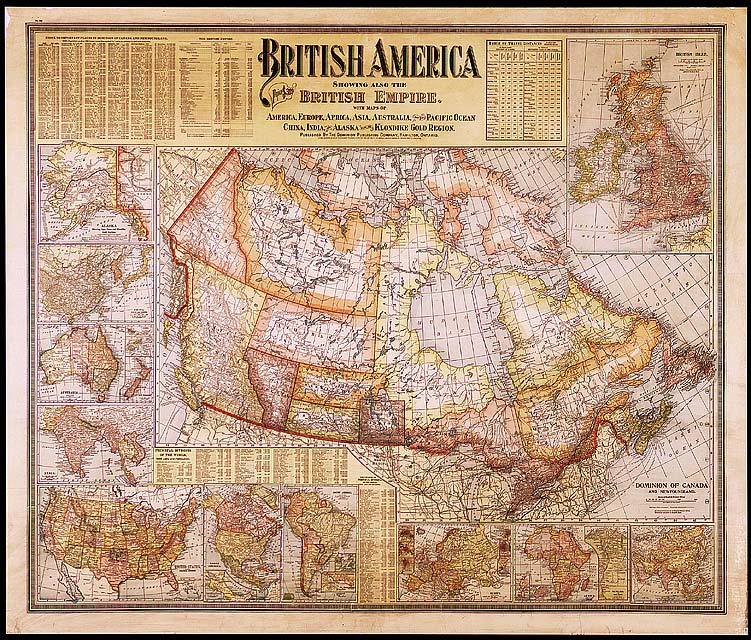 Map Of Canada 1900.Canada And The British Empire 1902 1900 S Maps Cka