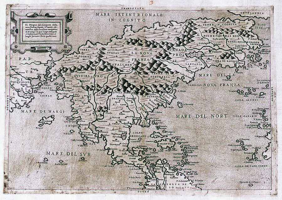 One of the first maps to show North America only and to include the name