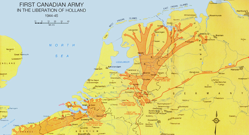 Liberation of the Netherlands  World War 2 Maps  CKA