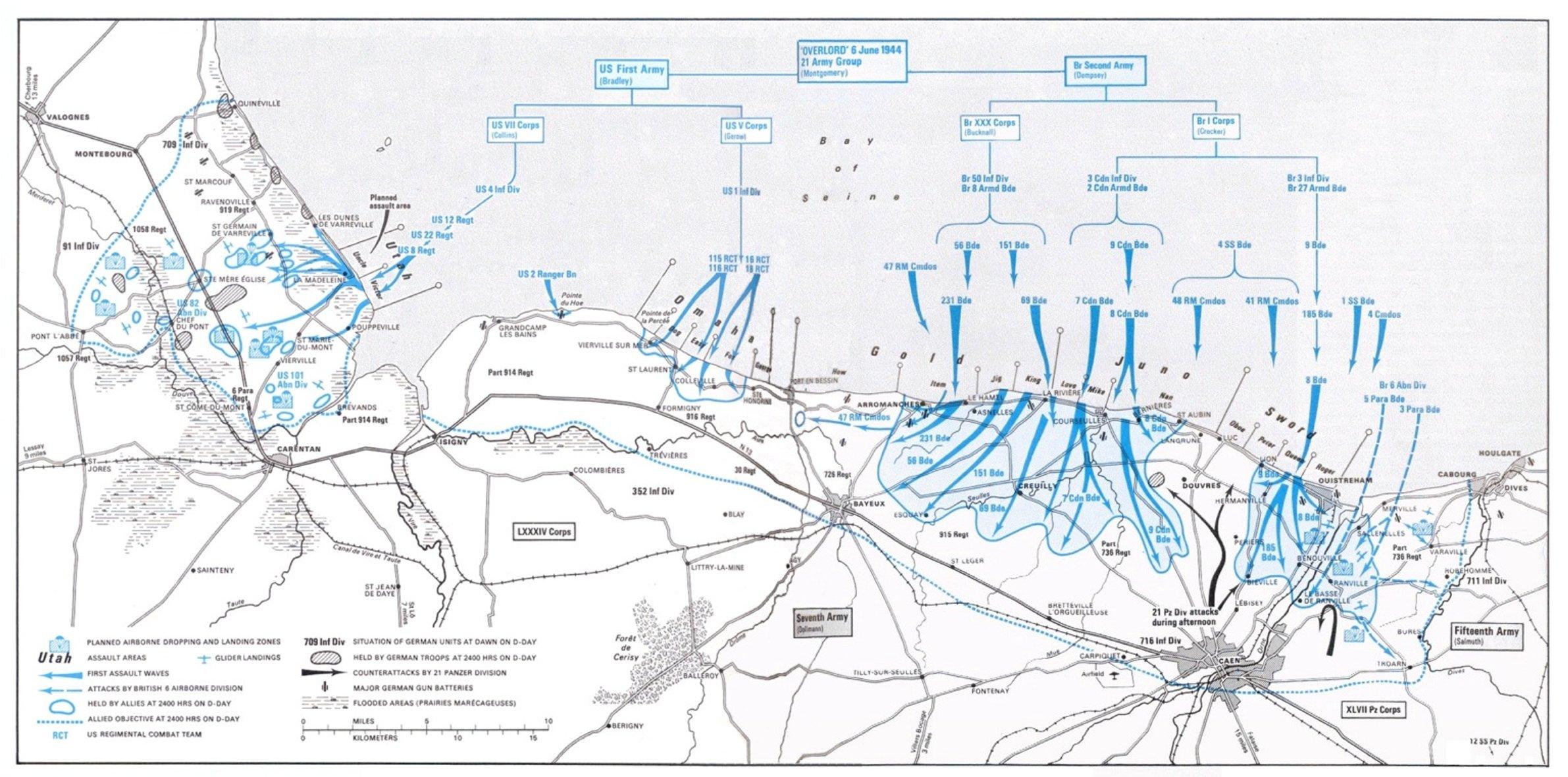 Operation Overlord World War 2 Maps Cka