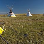 Indian Teepees, Head-Smashed-In Buffalo Jump. Alberta