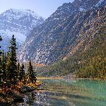 Mt Edith Cavell and Cavell Lake, Jasper National Park