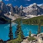 Moraine Lake and Wenkchemna Mountains