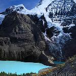 Berg Lake and Mount Robson (12,972 feet), highest peak in the Canadian Rocky Mountains, Mount Robson Provincial Park, BC