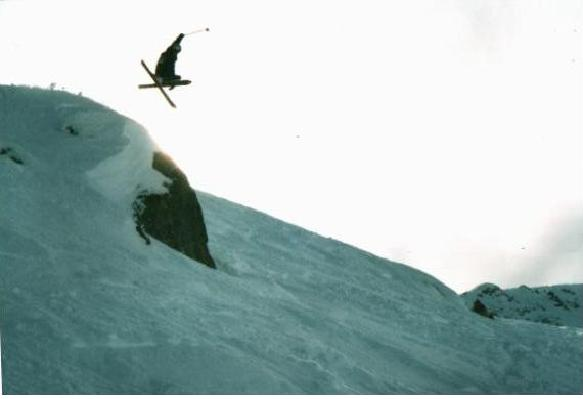 This is a cliff at whistler- a nice mute grab-