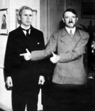 Adolf Hitler gives his buddy Bush 'props'.