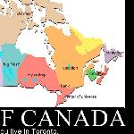 Map of Canada According to Toronto