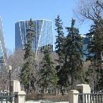 Regina's twin towers as seen from Victoria Park