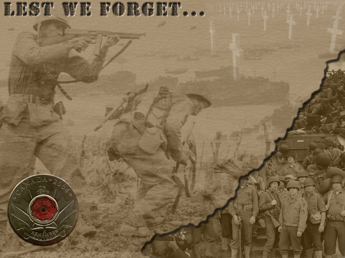 A quick wallpaper I made for Remembrance day. It was inspired by the Limited edition Remembrance Day Quarter distributed by Tim Horton's.