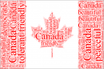 Canada Flag in Words