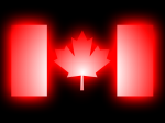 Glowing Canadian Maple Leaf!