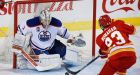 Brossoit gets first win for Oilers in rout against Flames