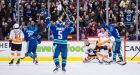 Canucks dominate slumping Flyers in 5-1 win