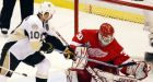 Red Wings perplex punchless Penguins for 2-0 lead