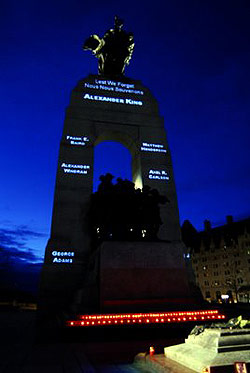 Artist honours Canada's war dead by name