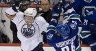 Oilers  beat Canucks 3-2
