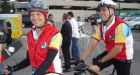 Blind police clerk cycling 400 km