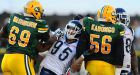 Eskimos win wild one over Argos to stay unbeaten