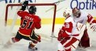 Glencross nets 2 goals as Flames clip Red Wings