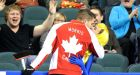 Team Canada skip John Morris plants one on superfan at Brier: