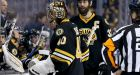 Bob Essensa, Bruins goalie coach, dresses as backup after Tuukka Rask leaves game