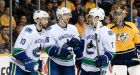 Canucks edge Predators in SO