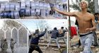Migrants hurl rocks in riot as tough new fence blocks Greece-Macedonia border