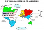 America map of the world