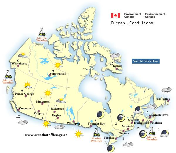 Canadian Weather Forecasts CKA