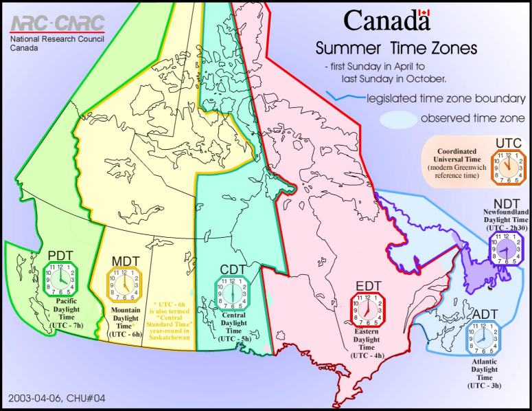 Canadian map facts