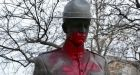 'Absolutely disgusting': Son of fallen RCMP officer angered by vandalized monument
